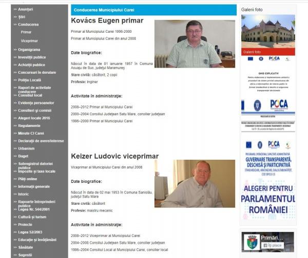 Un primar și un viceprimar din județul Satu Mare își țin ascunse CV-urile