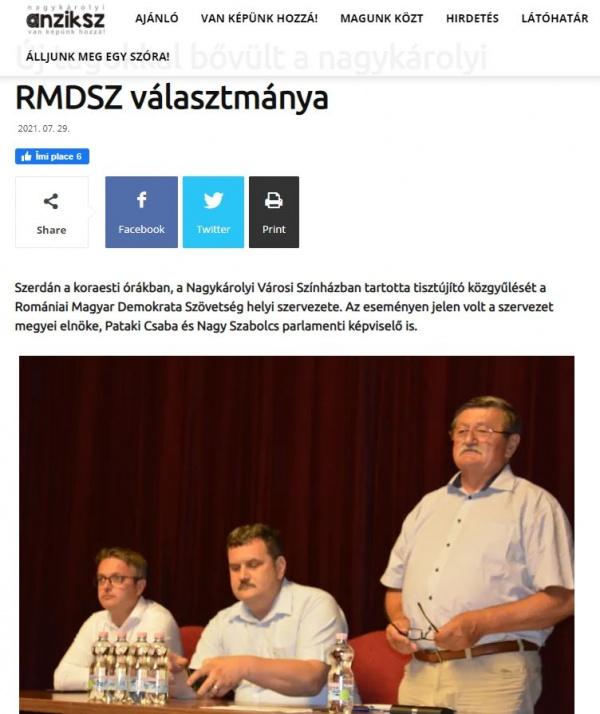 Primarul ,,nu provocați maghiarii,, a fost reales președinte al UDMR Carei