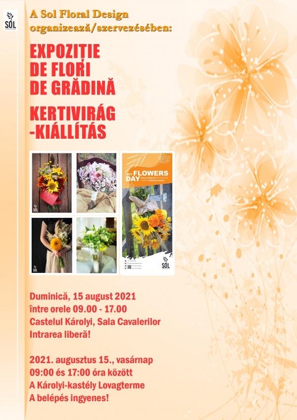 Expoziție de flori de grădină la castelul din Carei cu ocazia sărbătorii Adormirii Maicii Domnului