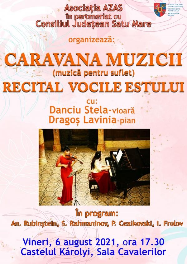 Recital de vioară și pian cu Stela Danciu și Lavinia Ardelean, la castelul din Carei