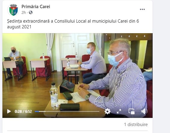 Procesele Verbale ale ședințelor de  Consiliu Local apar după semnalările Buletin de Carei