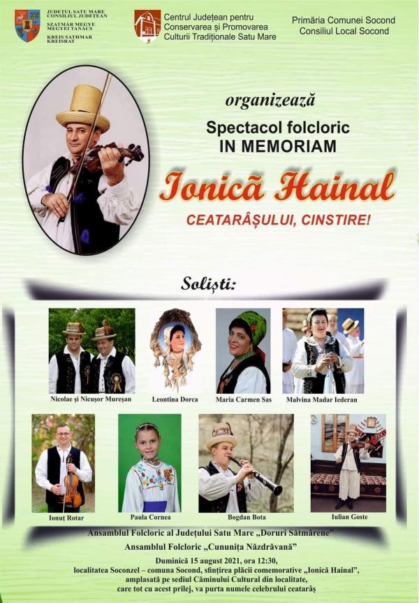 Spectacol folcloric In Memoriam Ionică Hainal