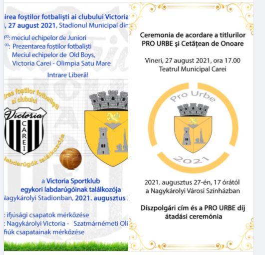 Meci de fotbal Old Boys și Premii Pro Urbe