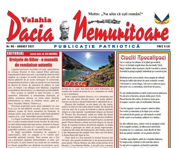 Revista DACIA NEMURITOARE ajunge la numărul 96