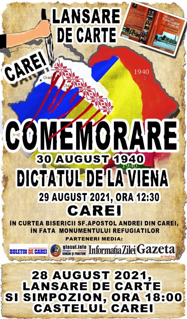 INVITAȚIE. Manifestări în memoria românilor refugiați și expulzați în toamna anului 1940