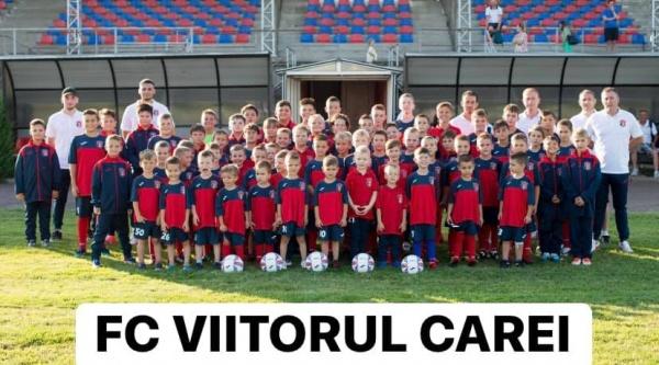 Clubul FC Viitorul Carei a obținut echipamente noi și materiale de antrenament