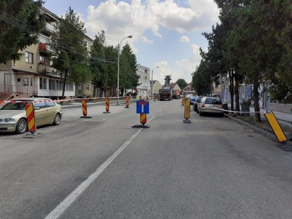 Trafic restricționat în Carei pe străzile Independenței și Someș