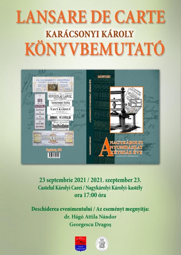 Lansare de carte despre istoria tipografiilor din Carei. Doar în limba maghiară