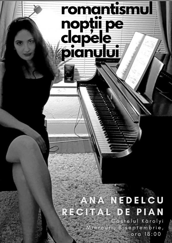 Recital de pian susținut de Ana Nedelcu la castelul din Carei