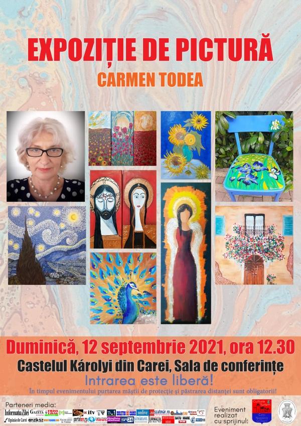 Expoziție de pictură semnată de consilierul local Carmen Todea