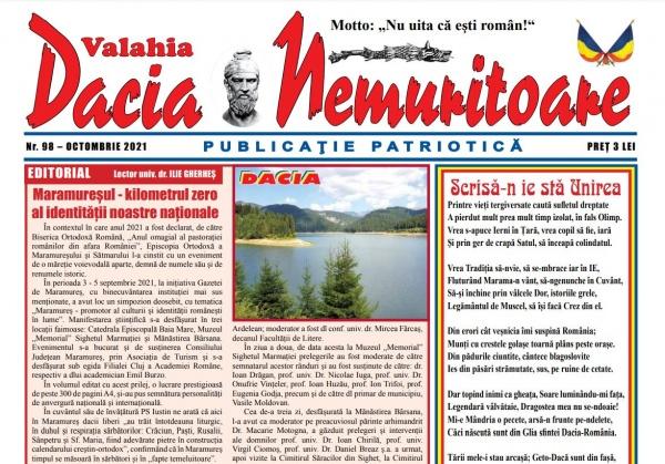 A apărut un nou număr al revistei Dacia  Nemuritoare