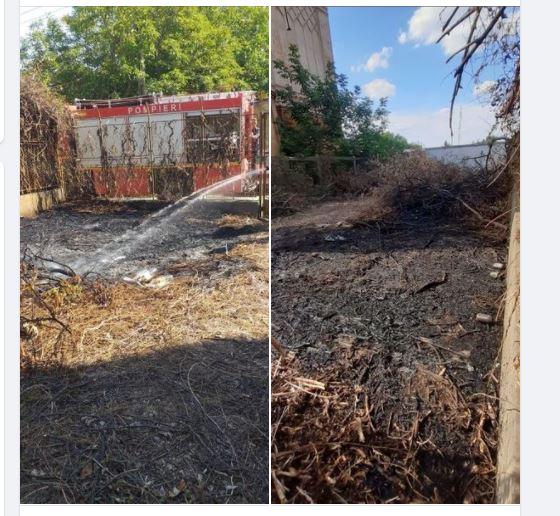 Incendiu lângă sinagoga din Carei