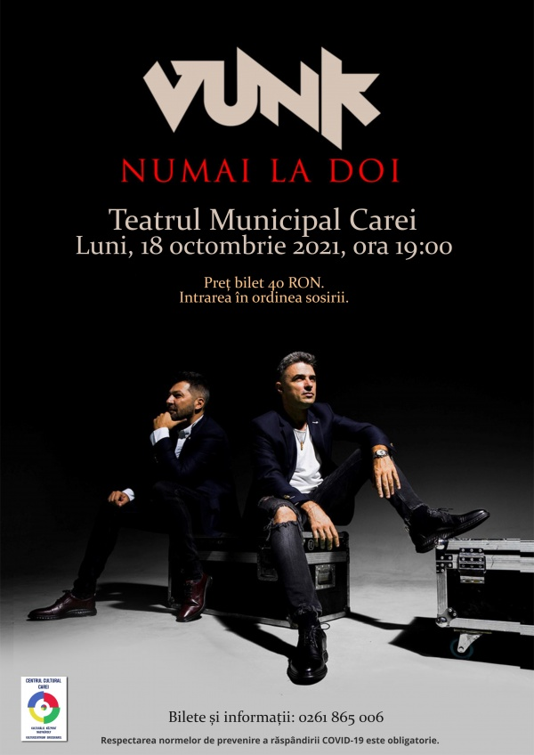 Concert acustic VUNK la Carei – Numai la doi