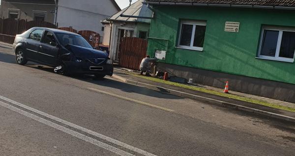Accident la Carei. Conductă de gaz  afectată