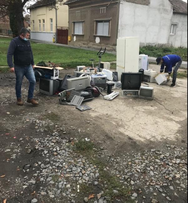 Colectare la Carei de deșeuri electrice și electronice